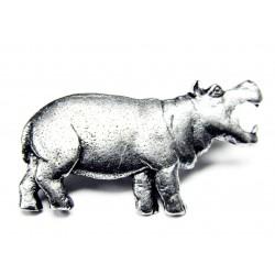 Pewter pin Hippopotamos 491