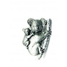 Pewter pin Koala and baby 497
