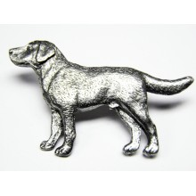 Pewter pin Lab Standing 450a