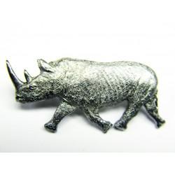 Pewter pin Rhinoceros 492