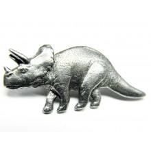 Pewter pin Triceratops 623
