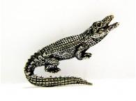 Pewter pin Alligator