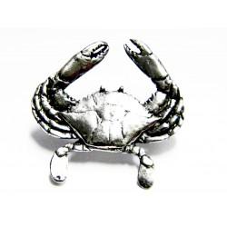 Pewter pin Crab