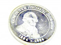 Silver Round Vancouver 1886-1986