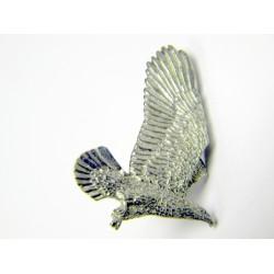 Pewter pin Bald Eagle flying 331